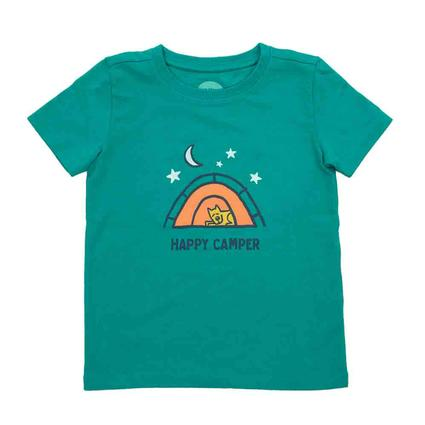 Life is Good Toddler's Happy Camper Crusher Tee, 4T