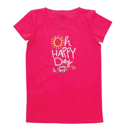 Life is Good Girls Oh Happy Day Crusher Tee, Large