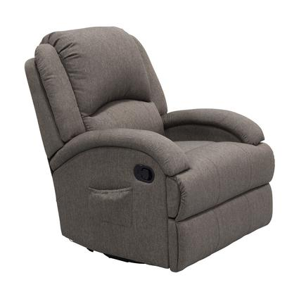 Thomas Payne Collection Heritage Series Swivel Glider Recliner, Dunes Grey