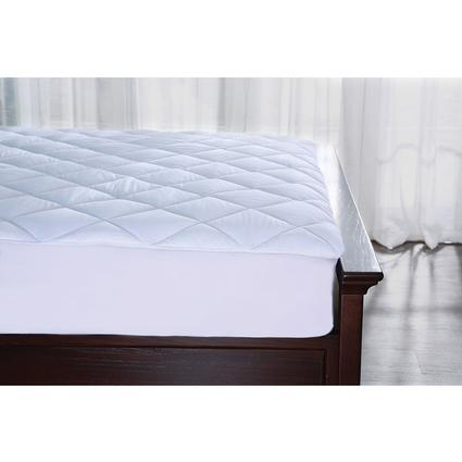 Hotel Collection Water Resistant Cotton Mattress Pad, Short Queen