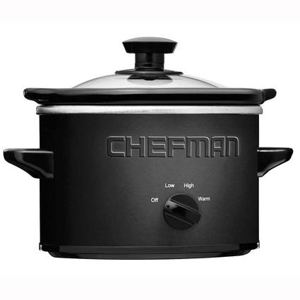 Chefman 1.5 qt. Black Slow Cooker with Removable Stoneware