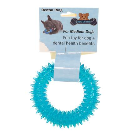 Pet Dental Ring, Medium, Blue