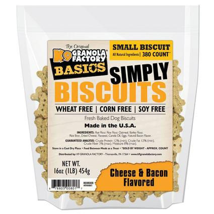 Simply Biscuits Small Cheese Bacon Dog Treats, 16 oz. Bag