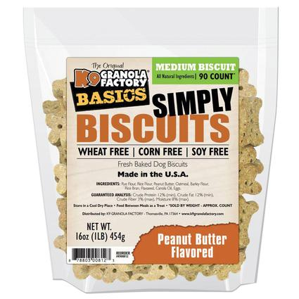 Simply Biscuits Medium Peanut Butter Dog Treats, 16 oz. Bag