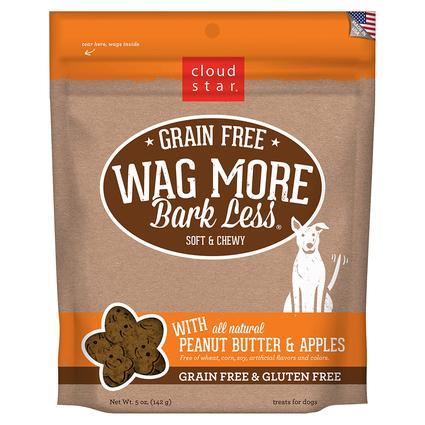 Wag More Soft Chewy Peanut Butter Apple Treats, 5 oz.