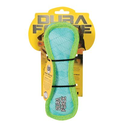 Triangle Ring Tiger Squeaky Toy, Blue/Green