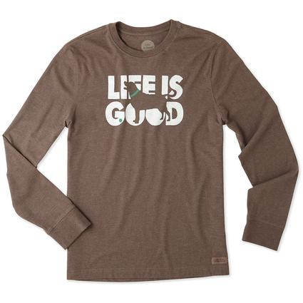 Life is Good Men's Long Sleeve Fetch Crusher Tee, XXLarge