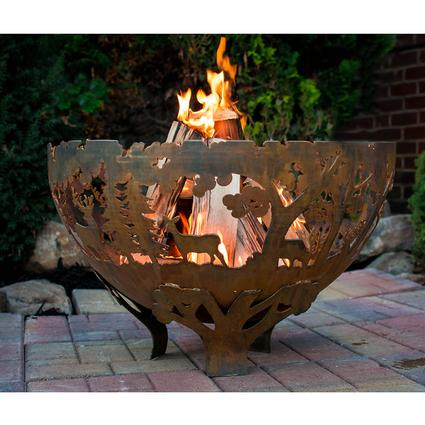 Wildlife Laser Cut Firebowl, Extra Large