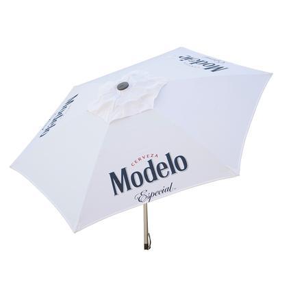 Modelo Especial Beer Push-Up Market Patio Umbrella, 8.5'