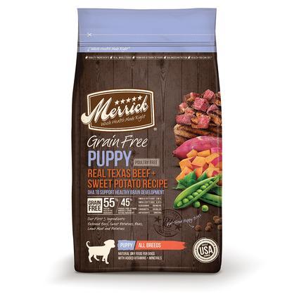 Merrick Grain Free Pet Food, Puppy, 4 lb. Bag