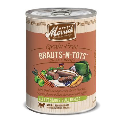 Merrick Grain Free Classic Pet Food Brauts-N-Tots