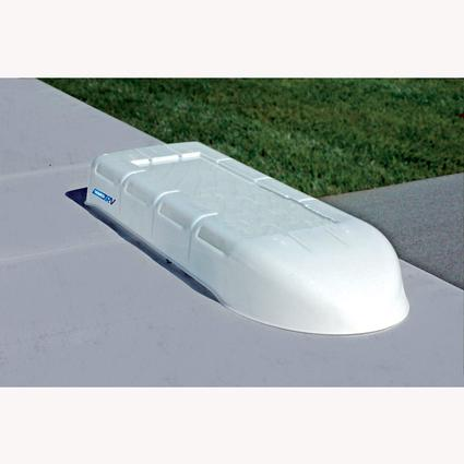 RV Refrigerator Vent Cover - White