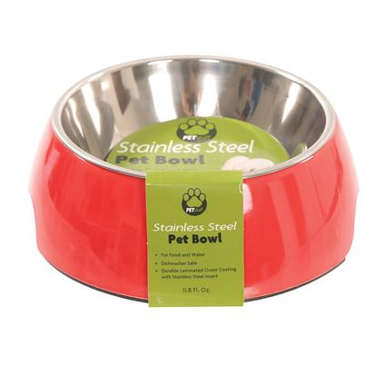 Large Pet Bowl, Red