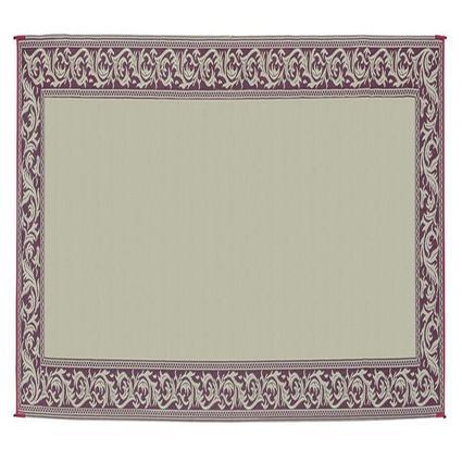 Patio Mat, Polypropylene, Classical Design, 8 x 20, Burgundy/Beige