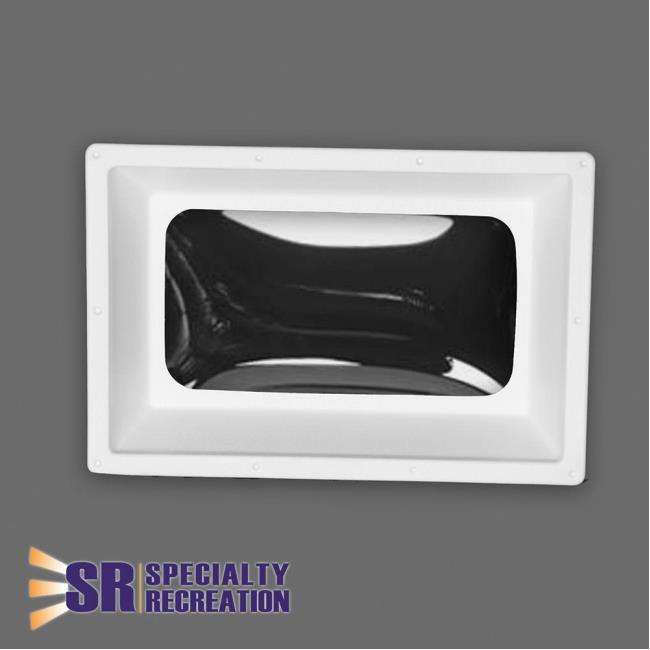 Rectangular Inner RV Skylight, White Frame/Clear Top 14\
