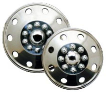 Namsco Stainless Steel Wheel Covers, Set of 4