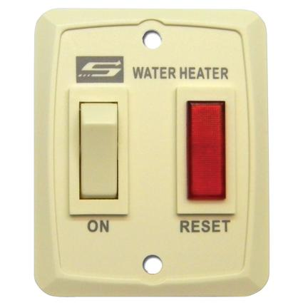 Switch Plate with Light Assembly for Suburban Water Heaters