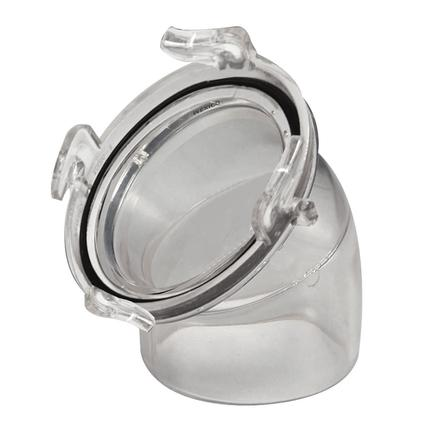 45 Degree Clear Hose Adapter