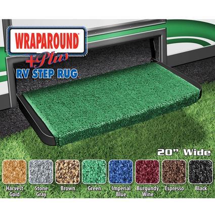 Wrap Around Plus RV Step Rug - Green