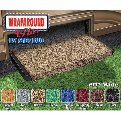 Wraparound Plus RV Step Rug - Brown