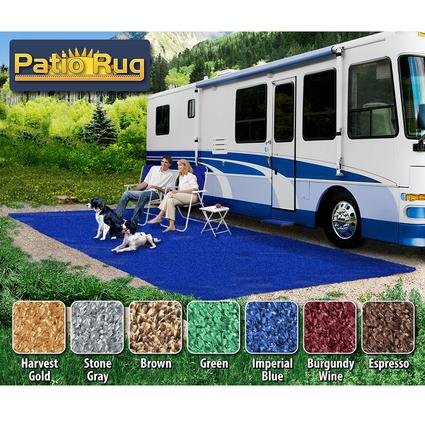 Prest-O-Fit Patio Rug 8' x 20' - Imperial Blue