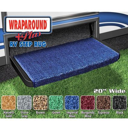 Wrap Around Plus RV Step Rug - Imperial Blue