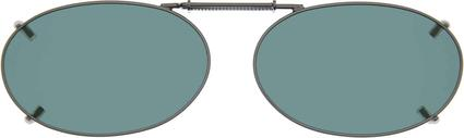 Cocoons OveRx Clip-On Sunglasses - Gray Lenses