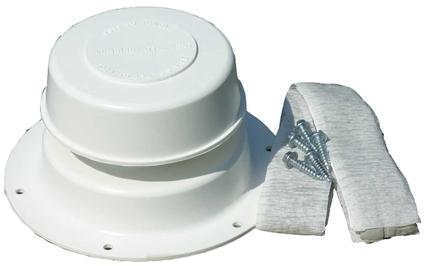 Replace-All Plumbing Vent Kit - Polar White