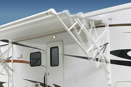 Carefree Travel'r 12-Volt Patio Awning Conversion, Adjustable Pitch, White