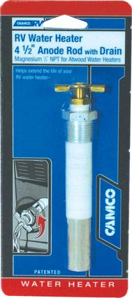 Anode Rod with Drain for Atwood Water Heaters - 4 1/2