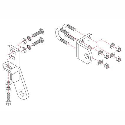 Roadmaster Reflex Steering Stabilizer Mounting Bracket, RBK11