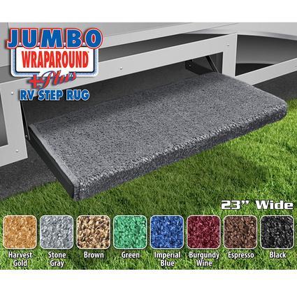 Jumbo Wraparound Plus RV Step Rug - Stone Gray