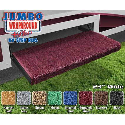 Jumbo Wraparound Plus RV Step Rug - Burgundy Wine, 23