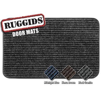 Ruggids RV Door Mat - Black Granite