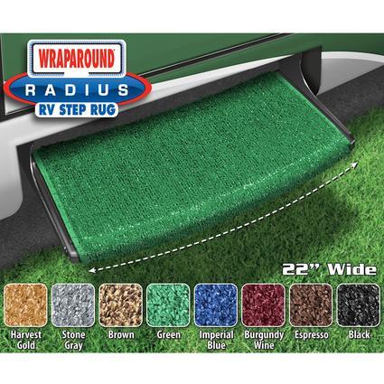 Wraparound Radius Step Rugs - Green, 22