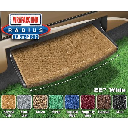 Wraparound Radius Step Rugs - Harvest Gold
