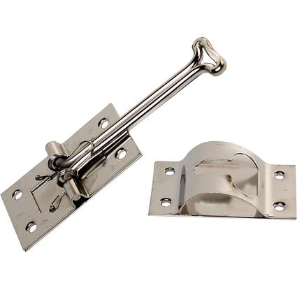 Self Closing Entry Door Holders - Stainless Steel T, 4 Inch