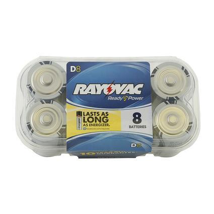 Rayovac D Batteries, 8-pack