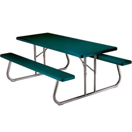 Folding Picnic Table – 6 foot, Hunter Green