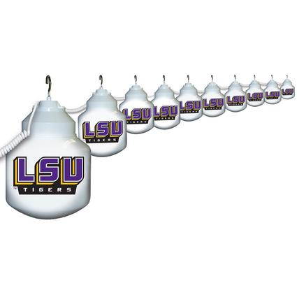 Collegiate Patio Globe Lights, 10 light set - LSU