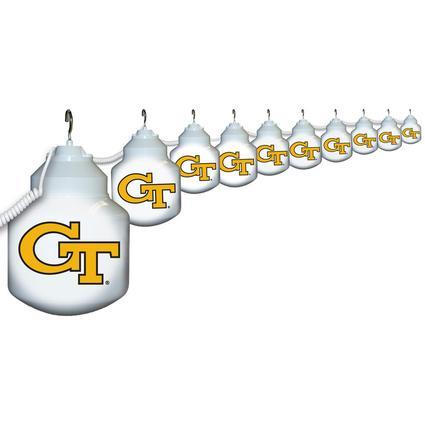 Collegiate Patio Globe Lights, 10 light sets-Georgia Tech