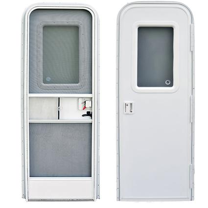 Radius Door-RH-28X72 - Polar White