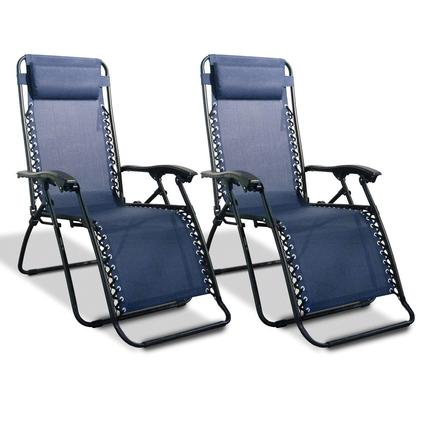 Zero Gravity Recliner, Blue - 2 Pack