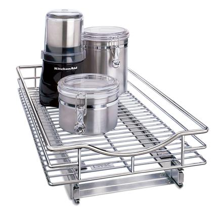 Chrome Finish Roll-Out Cabinet Drawers, 11