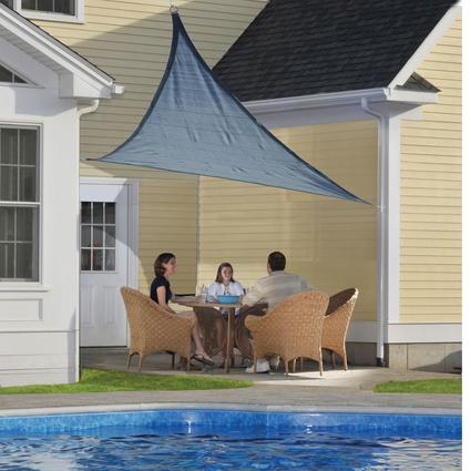 ShadeLogic Sun Shade Sail, Triangle- Sea 16' x 16' x 16'