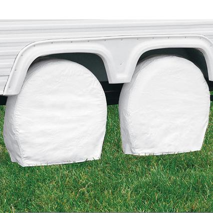 Overdrive RV Tire Covers, Pair - Tire diameter 19