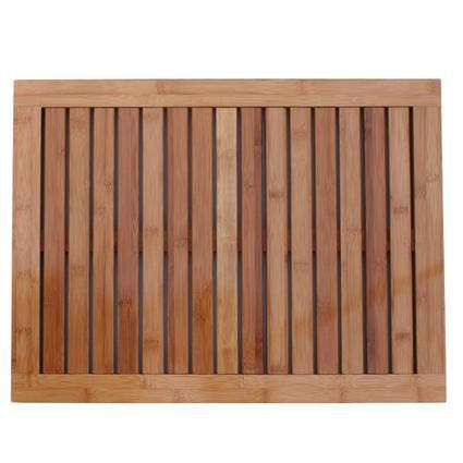 Oceanstar Bamboo Floor and Shower Mat