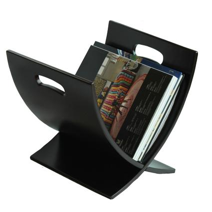 Oceanstar Contemporary Espresso Finish Wooden Magazine Rack