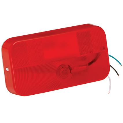 Surface Mount Tail Lights #92 Series- Red Stop/Tail/Turn Light with White Base