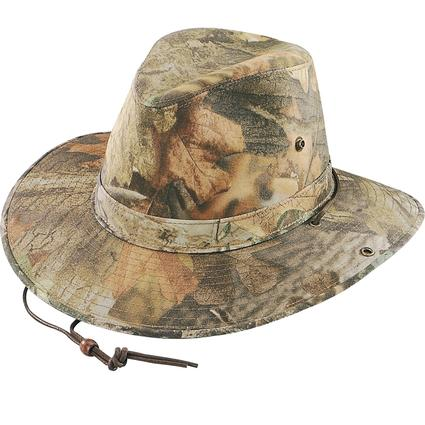 Camo Aussie Hat- Timber Camo, Large